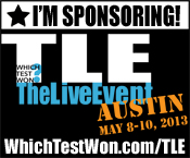 We're Sponsoring! We're a sponser at Which Test Won: The Live Event!
